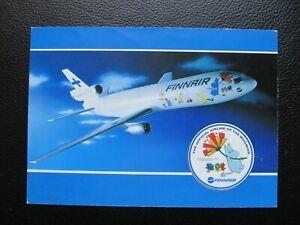 FINNAIR DC-10 UNUSED OFFICIAL post card moomins airline memorabilia