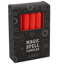 Red Love Spell Candles Set of 12 Gift Boxed Witch Wicca Magic