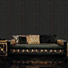 VERSACE GREEK KEY WALLPAPER ROLLS 10m x 70cm - BLACK 935234 NEW