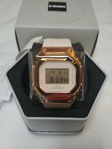 Casio G-Shock GMS5600PG-4 Rose Gold Stainless Steel Pink Metal Women's Watch