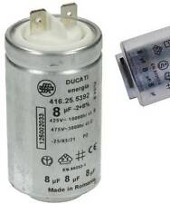 DUCATI 1250020334 Condensateur metal 8 µF mf  Lave seche linge AEG ZANUSSI