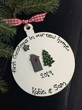 Personalised First Christmas In Your our New Home Tree Bauble 1st  Decoration