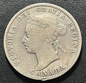 Canada 1891 25 Cents Silver Coin: Victoria