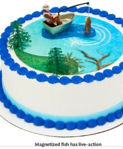Fishing Action Set Cake Decorating Kit (4 Pieces)