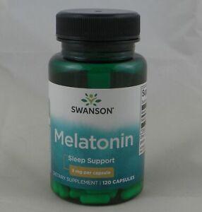 Swanson MELATON 3mg - 120 Kapseln Besserer Schlaf JET LAG Aid Melatoni