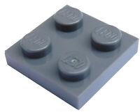 Lego 10 Stück Platte 2x2 sandblau (sand blue) 3022 Neu Platten in sand blau