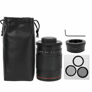 500mm F8 Super Telephoto Mirror Lens+3 Filters for Olympus M4/3 Mount GX8/GF9/G7