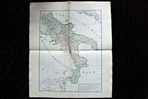Große antike historische Landkarte, Königreich Neapel, Ferd. Götze Weimar, 1804