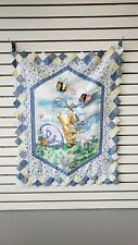 Vintage Classic Winnie the Pooh Wall Hanging/Crib Quilt -Catching Butterflies