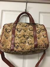 Bradford Exchange constant companion yellow lab dog puppy canvas tapastry handba