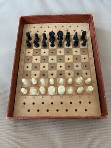 Vintage Pocket Chess Set K&C Ltd Black vs White