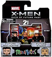 X Men Marvel Future Wolverine et Future Storm Minimates Figurine