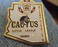 Cactus Little League Baseball pin badge Tucson Arizona District 5