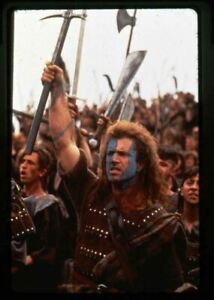 Braveheart Mel Gibson Battle Cry Original 35mm Transparency stamped mount