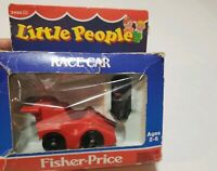 Vintage Fisher Price Little People #2450 RACE CAR/ DRIVER