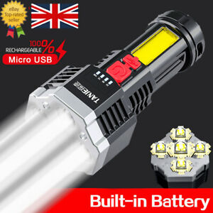 99000LM Torch LED Flashlight USB Rechargeable Camping Tactical Lamp Super Bright