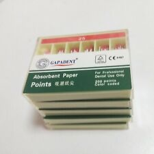 5boxes Gutta Percha Absorbent Paper Points Root Canal Endo 25 200pcsbox