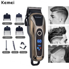 Kemei 1990 Cordless Hair Clipper Trimmer Electric Beard Cutter Machine US