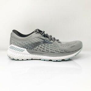 Brooks Womens Adrenaline GTS 21 1203291D061 Gray Running Shoes Size 7.5 D Wide