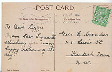 Genealogy Postcard - Family History - Coombes - Kentish Town - London NW   U3538