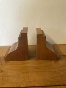 Beautiful Vintage Solid Wood Bookends
