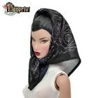 ELENPRIV black roses printed headscarf for Fashion Royalty FR2 similar dolls