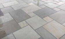 18.9m2 Natural Indian sandstone Paving KANDLA GREY patio slabs 22mm Calibrated