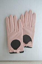 Original gants de pilote ROECKL rose clair  en cuir nappa taille 8  neuf