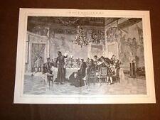 Rarissima Il pranzo del Vescovo Quadro di Federico Pastoris del 1884