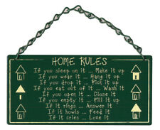 NEW Home Rules Metal Home and Garden Sign