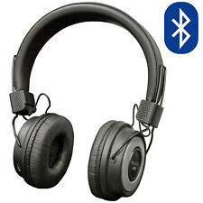 Wireless Bluetooth Over Ear Headphones with FM Tuner Micro SD Slot & 10m Range