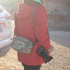 Small camo  SLR DSLR Waterproof Nylon Oxford camera Holster Travel Bag Case A7