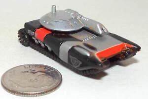 Small Micro Machine Plastic Futuristic Tank in Black & Silver with a Red Stripe
