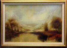 Azarin Horizonte (Horizon) Original Oil Painting with Custom Frame landscape H.S