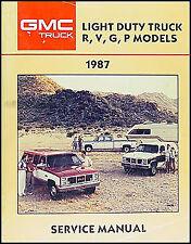 repair manuals literature for gmc g2500 ebay rh ebay com 1987 GMC Sierra Specs 1987 GMC Suburban