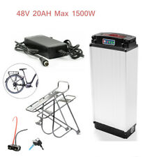 48V 20AH 1500W Electric Bicycle lithium Battery + Rear Rack Carrier+ Charger Kit
