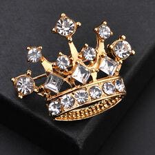 León de los animales Chapado En Oro Cristal Rhinstone Broche Pin mujeres Broches Joyeria Regalo