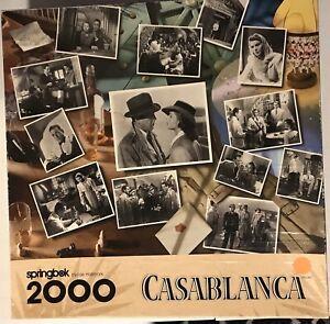 1997 Springbok Casablanca Puzzle 2000 Piece Large Jigsaw
