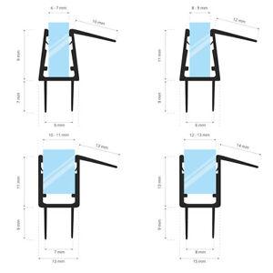 Duschdichtung Glastür Wasserabweiser Schwallschutz Glasprofil Duschtürdichtung