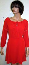 NWT GIANNI BINI LITTLE PARTY MANDARIN RED DRESS Sz S $108