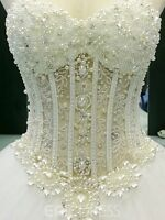 Luxury Strapless Wedding Dress 2018 Beading Sweetheart Ball Gown Bridal Gown