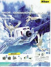 PUBLICITE ADVERTISING  026  2002  Nikon  appareil photo numérique   COOLPIX 775