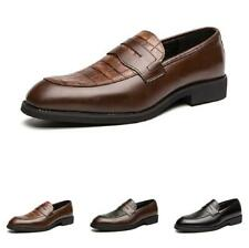 British Mens Dress Formal Business Shoes Pointy Toe Oxfords Work Office Casual D