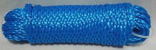 "Blue Hollow Braided 1/4"" x 40' HQ Marine Boat Dock Anchor UTILITY ROPE Line Cord"