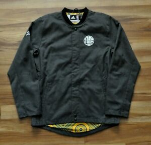 GOLDEN STATE WARRIORS Adidas Warmup NBA Jacket On-Court 16-17 Pro Cut Mens S+0