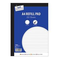 A4 Refill Pad Ruled 100 Pages Margin Ruled Lined Writing Note Book Punched Holes