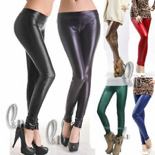 Women's Leather Stretch Pants