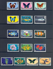 SOLOMEN ISLANDS SG 219-233a 1972 FAUNA & FLORA DEFINITIVES MNH