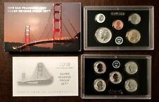 2018 SAN FRANCISCO MINT 50TH Anniversary SILVER REVERSE PROOF SET ALL OGP & COA