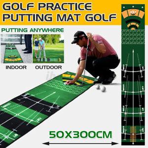 Golf Putting Mat 50cm*300cm Golfmatte Übungsmatte Außen / Innen Training  ❞